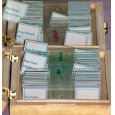 Prepared microscope slides (25 pieces, micro world of plants)  (#D)